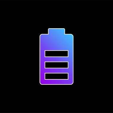 Battery blue gradient vector icon stock vector
