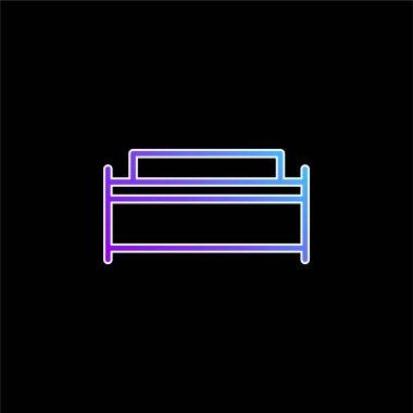 Big Bed blue gradient vector icon stock vector