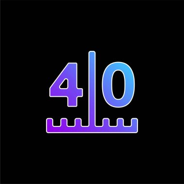 American Football Scores Numbers blue gradient vector icon stock vector