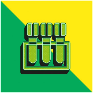 Blood Test Green and yellow modern 3d vector icon logo stock vector