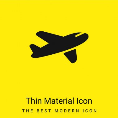 Air Transport minimal bright yellow material icon stock vector