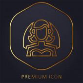 Menyasszonyi arany vonal prémium logó vagy ikon