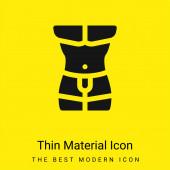 Körper minimal leuchtend gelbes Material Symbol