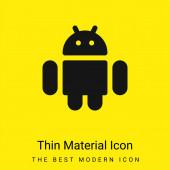 Android minimal leuchtend gelbes Material Symbol