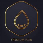 Big Drop Of Water zlaté linie prémie logo nebo ikona