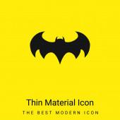 Batman Logo minimális fényes sárga anyag ikon