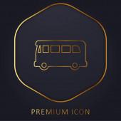 Airport Bus arany vonal prémium logó vagy ikon