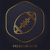 American Football arany vonal prémium logó vagy ikon