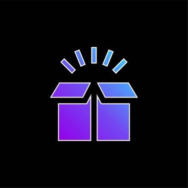 Box blue gradient vector icon stock vector