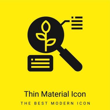 Analysis minimal bright yellow material icon stock vector