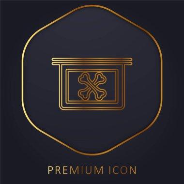 Bones X Ray Vision golden line premium logo or icon stock vector