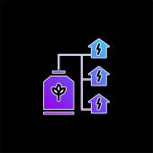 Bio Energy blaues Gradientenvektorsymbol