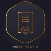 Bank golden line premium logo or icon