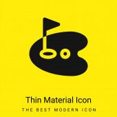 Birdie minimal leuchtend gelbes Material Symbol