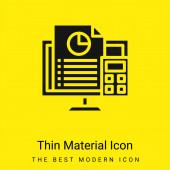 Účetnictví minimální jasně žlutá ikona materiálu