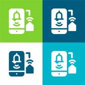 Alarm Byt čtyři barvy minimální ikona nastavena