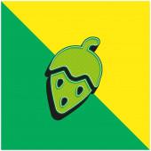 Eichelgrün und gelb modernes 3D-Vektor-Symbol-Logo