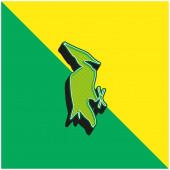 Bird Shape Green and yellow modern 3d vector icon logo