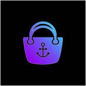 Anchor Hand Bag modrý vektor přechodu ikona