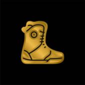 Boot vergoldet metallisches Symbol oder Logo-Vektor