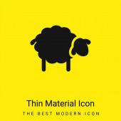 Schwarze Schafe minimalen leuchtend gelben Material Symbol