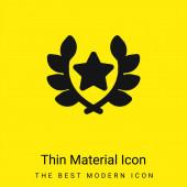 Díj minimális fényes sárga anyag ikon