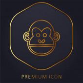 Zvířecí zlatá čára prémie logo nebo ikona