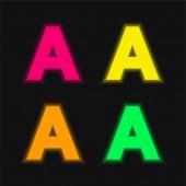 Ein vier Farben leuchtendes Neon-Vektor-Symbol