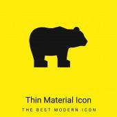 Medve minimális fényes sárga anyag ikon