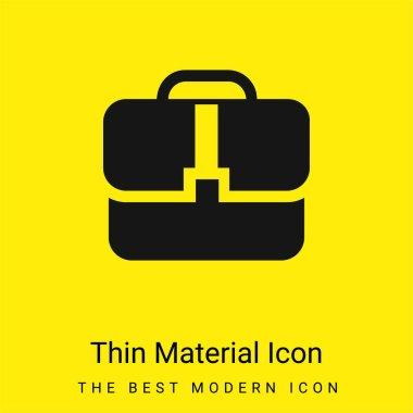 Black Handbag minimal bright yellow material icon