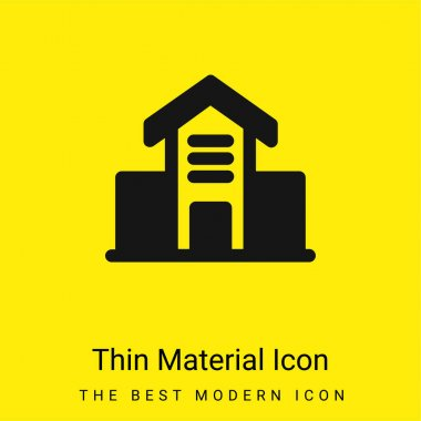Architecture Building minimal bright yellow material icon stock vector