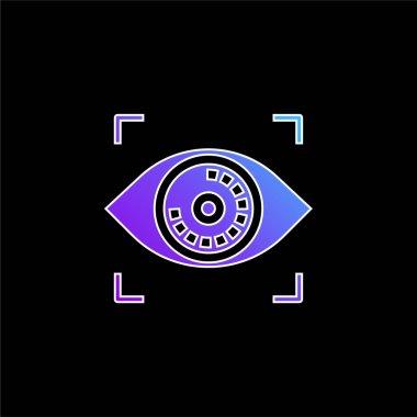 Biometric Recognition blue gradient vector icon stock vector