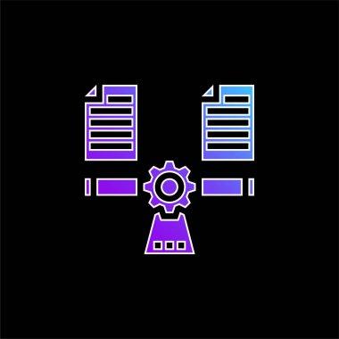 Balancing blue gradient vector icon stock vector