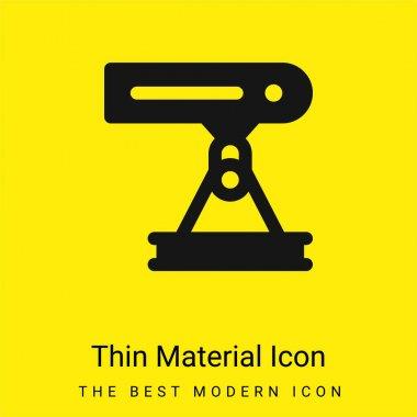 Beam minimal bright yellow material icon stock vector