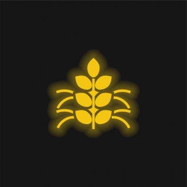 Agronomy yellow glowing neon icon