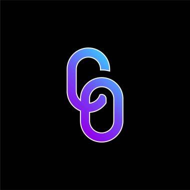 Big Chain blue gradient vector icon stock vector