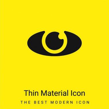 Big Eye minimal bright yellow material icon stock vector