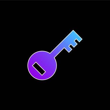 Account PassKey blue gradient vector icon stock vector
