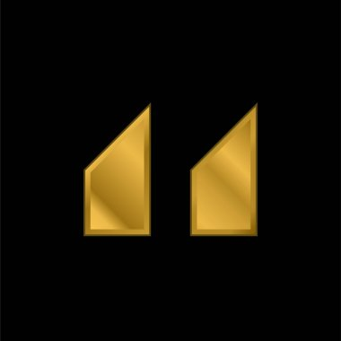 Blocks With Angled Cuts gold plated metalic icon or logo vector