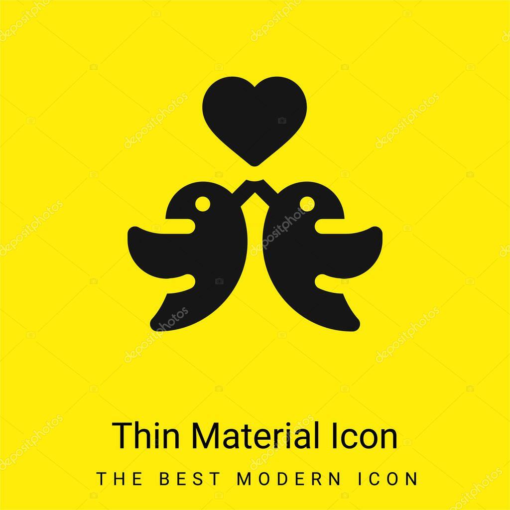 Birds minimal bright yellow material icon stock vector
