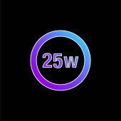 25 Watts Lamp Indicator blue gradient vector icon