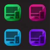 Adaptive Vier-Farben-Glas-Taste Symbol