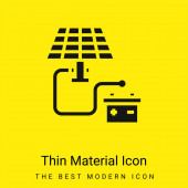 Batterie minimal hellgelbes Materialsymbol