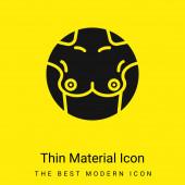 Brust minimal leuchtend gelbes Material Symbol