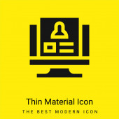 Background Check minimal bright yellow material icon
