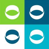 Ashley Madison Social Logo Flat čtyři barvy minimální ikona nastavena
