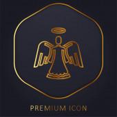 Angel arany vonal prémium logó vagy ikon