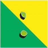 Antigua And Barbuda Green and yellow modern 3d vector icon logo