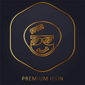 Afro arany vonal prémium logó vagy ikon