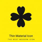 4 Lístek Clover minimální jasně žlutý materiál ikona